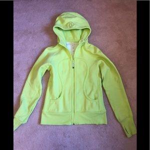 Lululemon Scuba Lime Green Hoodie Size 10